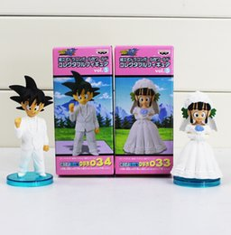 Anime DRAGON BALL Son Goku ChiChi Wedding scene WCF DWC7 PVC Dolls Toys Action Figure Free shipping