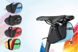 Wholesale Free DHL New Arrival Roswheel Outdoor Cycling Mountain Bike Bicycle Saddle Bag Back Seat Tail Pouch Package