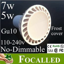 Frost Cover 7w Led Lamps Gu10 Mr16 650lm led Downlight bulb warm   cold   natural white led lighting spotlight CE&ROHS UL CSA SAA CRI 85