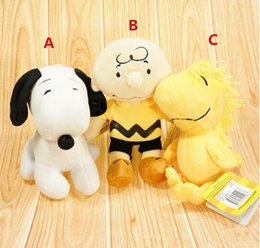 Wholesale New Peanuts Comics Charlie Brown And Snoopy Plush Toys Dolls Little Cute Woodstock Plush Stuffed Dolls Kids Toys