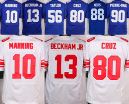 Wholesale Elite Eli Manning Victor Cruz Odell Beckham Jr Royal Blue Stitched Mens Jerseys Mix Order Accept
