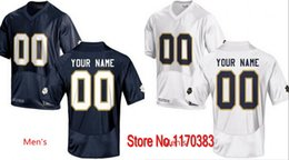 Wholesale Factory Outlet Custom stitched Football Jersey Personalized Notre Dame Fighting Irish Jersey College Football Jersey Blue White Free Shippi