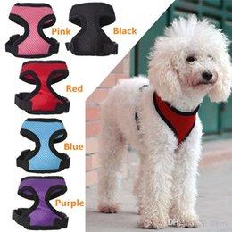 Wholesale New Arrivals Puppy Dog Harness Vest Pet Apparel Nylon Fabric Soft Mesh Adjustable Colours Sizes MD2