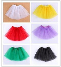13 colors Top Quality candy color kids tutus skirt dance dresses soft tutu dress ballet skirt 3layers children pettiskirt clothes