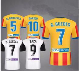2018 Valencia home away Soccer Jersey 17 18 Valencia Soccer Shirt 2017 Milano Customized zaza Gaya nani football uniform Sales