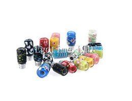 Wholesale Best Drip Tip E Cigarettes Carving Art Glass Drip Tip Jade stone Drip Tip with Stainless Steel Wide Bore RDA RBA Atomizer Mouthpieces