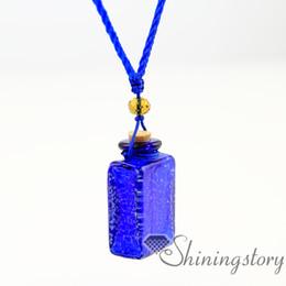 oblong luminous aromatherapy jewelry wholesale diffuser bracelet aroma necklace glass bottle charm Perfume bottle perfume pendant