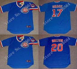 Wholesale Cheap Chicago Cubs MARK GRACE ANDRE DAWSON RYNE SANDBERG JEROME WALTON Home throwback Baseball Jersey stitched S XL