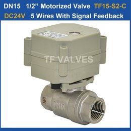 Wholesale BSP NPT Electric Stainless Steel Valve DN15 VDC Control Wires for water autoamtic control systems