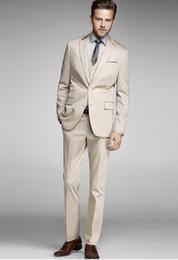 Excellent Style Two Button Groom Tuxedos Notch Lapel Groomsmen Mens Wedding Dresses Prom Suits (Jacket+Pants+Vest+Tie) H369