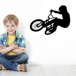 Wholesale Sports Racing Wall Art Decor Sticker Bicycle Sport Vinyl Decal Boy Room