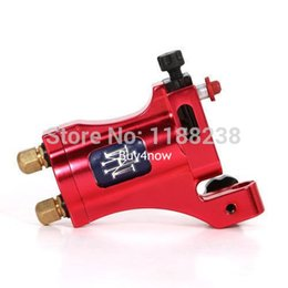 Wholesale Pro Tattoo Machine Gun Electric Aircraft Alloy tatoo rotary well Balanced liner shader red with box power supply