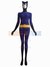 2015 Black & Purple Catwoman Superhero Costume fullbody halloween cosplay spandex female Catwoman costume hot sale zentai suit