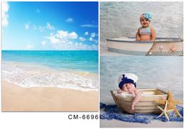 2017 fondos de verano 5x6.5FT Personalizar Bebé Recién Nacidos Fondos Fotografía Backdrops Estudio Fotográfico Verano Playa Mar Foto Pantallas Delgadas De Vinilo Para Fotografía fondos de verano en oferta