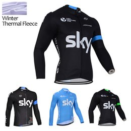 2015 SKY new winter Thermal Fleece cycling jersey cycling clothing men Long Bike Breathable Clothes cycling wear S-3XL pro cycling jersey