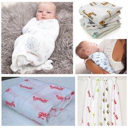 Размеры одеяло Онлайн-50шт Многофункциональный Aden Anais Муслин Хлопок Новорожденный Пеленальный Большой размер младенца Полотенце постельные принадлежности Одеяло 120x120cm 47 * 47inch 201506HX