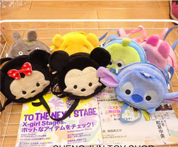 Wholesale 50pcs DHL Free style to choose Tsum Tsum Cute Coin Purse Children baby wallet bag cartoon Bear Duck Elephant Pig Stored key pouch bag