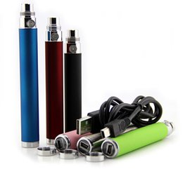 Wholesale Ego U Battery bottom charge battery variable voltage V battery with USB cable thread for all ego series atomizer