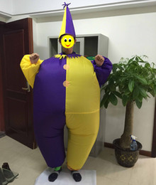 one size fit all design adult inflatable clown costume for party