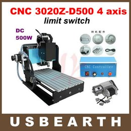 Wholesale CNC Router Axis CNC Milling Machine with limit switch W DC spindle rotary axis