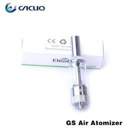 Wholesale Authentic Ismoka Eleaf GS Air GS Air Atomizer Airflow Adjustable ml Cartomizer Tanks Dual Coil Head GS Air e cig Tank GS Eleaf Atomiser