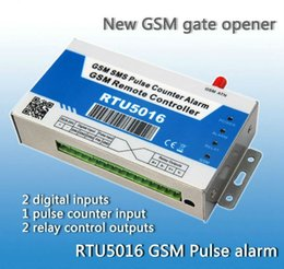 Wholesale GSM Pulse Counter Alarm Controller RTU5016 Home Automation Support ios APP iKeypad download free on APP STORE