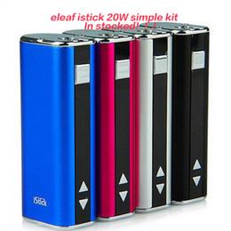 Ismoka eleaf Istick 20W 30w mod simple Kit Battery Mod 2200mah for Kangertech Subtank Mini Nano Plus VS KBOX MINI DHL free shipping