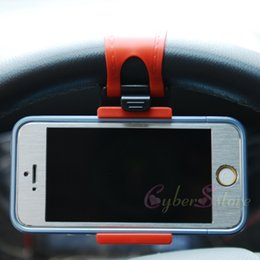 Wholesale Car Steering Wheel Clip Mount Holder Rubber Band For iPhone iPod MP4 GPS Mobile Phone