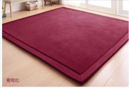 Wholesale Free Shpping cm Polyester Coral Velvet Tatami Floor Mats Yogoa Easy Portable Carpet Children Crawling Blanket by EMS