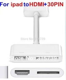 Wholesale Digital AV Adapter Pin Dock Connector to HDMI Adapter Video Audio Charging For iPad air iPhone S iPod