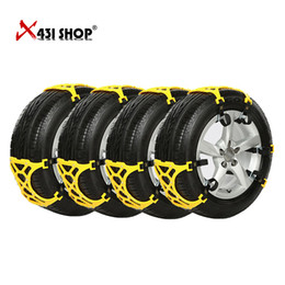 Wholesale Brand New Sets Car Tire Skid Chain Snow Thickened Beef Tendon Slip TPU Vehicles String For mm mm