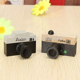 2pcs lot DIY Small Vintage LOMO Photo Camera Wood stamp Wooden Retro Scrapbooking Decorative Stamps wholesale Free shipping