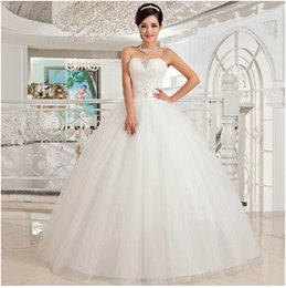 vestidos de novia 2015 new white fashion sweetheart beaded floor-length wedding dress romantic bridal gowns