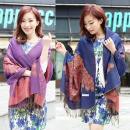 New Fashion Trendy Bohemian Women's Long Print Scarf Wrap Ladies Shawl With Tassels Girl Large Pretty Scarf 10 Colors ZZ