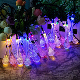 Factory Supply 20 led Solar Bubble Bubble Water Droplets Light Lamps Christmas Decorations Lights Solar Powered Decoration Light for Indoor