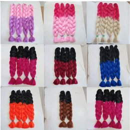 Kanekalon Jumbo Braid Hair Senegalese Twist 82inch 165grams Red&Pink Ombre two tone color xpression synthetic Braiding hair extensions