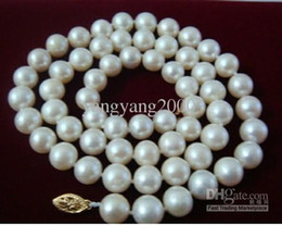 Wholesale mm genuine south sea white pearl necklace K