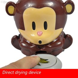 Wholesale dry battery air dryers Blow Monkey Nail polish machine cute little monkey nail dryer is drying machine nail dryer