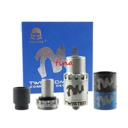 Atomizadores al por mayor en venta-Twisted mayor-Clone RDA goteo atomizador tanque de 22 mm Drip Tip vaporizador con 3 colores anillo AFC flujo de aire para el envío libre