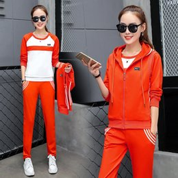 New 2017 women's clothing, casual sportswear set in the spring and autumn, women show slim, long sleeved three sets