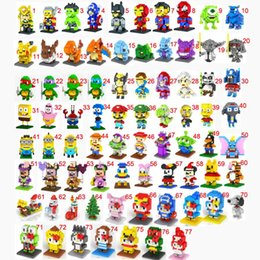 Wholesale 20pcs LOZ building blocks Diamond blocks Ninja turtle The Avengers Super Mario Despicable Me intelligence educational toys D puzzle