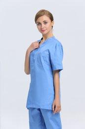 Wholesale 2015 OEM women hospital v neck medical scrub sets dental clinic nurse uniform beauty salon uniform