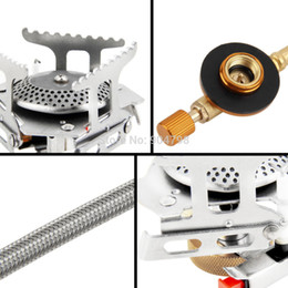 Wholesale Ultralight Folding Backpacking Camping Stove Gas powered Stove with Piezo Ignition for Outdoor Hiking Camping Fishing