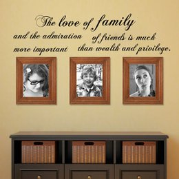Wholesale The Love Of Family And The Admiration Wall Sticker Art Vinyl Removable DIY Home Decor Living Room