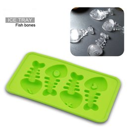 Wholesale Silicone cake mold Ice cream Chocolate mold soap silicone molds D fish bones ice tray cupcake bakeware baking dish pan