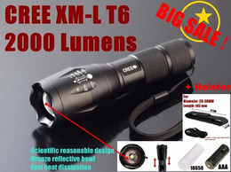 Wholesale G700 E17 CREE XM L T6 Lm led Torch Zoom LED Flashlight Torch light For xAAA or x battery flashlight holster