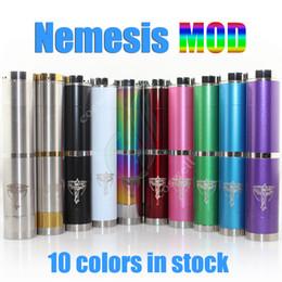 Wholesale Nemesis en acier inoxydable pleine mécanique mod en couleurs vs Manhattan Knight Fuhana Pegasus nine Colonial AR e cigarette clone mods