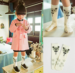 Wholesale 2016 kids Cartoon Bear Baby Boys Girls Cotton Socks Infant Socks Children Winter Warm Leg Warmers Animal Mid long Boots Cuffs Socks