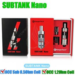 Kanger Subtank Nano Atomizer 3.0ML Subtank Nano Sub ohm Clearomizer 510 thread atomizer
