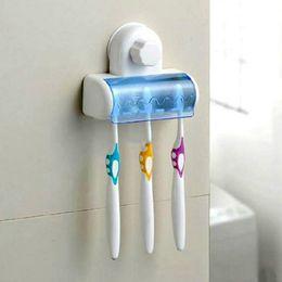 Wholesale Spinbrush Suction Holder - New Bathroom Suction 5 Hook Wall Mount Toothbrush SpinBrush Hanging Holder Rack